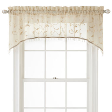 jcpenney.com | Royal Velvet® Harmon Rod-Pocket Sheer Arch Valance