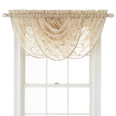 jcpenney.com | Royal Velvet® Harmon Rod-Pocket Sheer Waterfall Valance