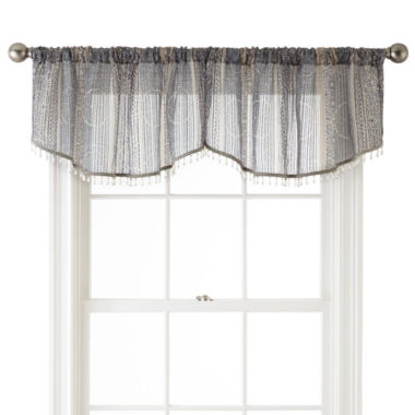 jcpenney.com | Royal Velvet® Corsica Rod-Pocket Sheer Ascot Valance