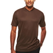 D'Amante Short-Sleeve V-Neck Knit Shirt
