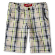 Arizona Plaid Chino Shorts - Boys 6-18, Slim and Husky