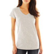 jcp™ Essential Short-Sleeve Relaxed Fit V-Neck Tee