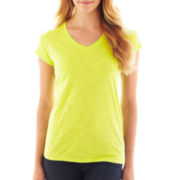 jcp™ Essential Short-Sleeve Relaxed Fit V-Neck T-Shirt