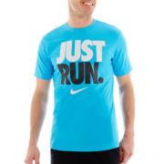 Nike® Dri-FIT Just Run Athletic Tee