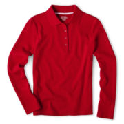 IZOD® Long-Sleeve Polo Shirt - Girls 4-18 Plus