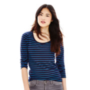 Joe Fresh™ 3/4-Sleeve Striped Tee