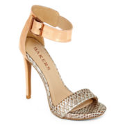 Bakers Molleen Metallic High Heel Ankle-Strap Sandals