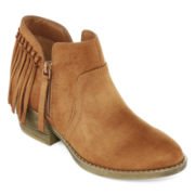 Arizona Goldie Fringe Womens Ankle Booties
