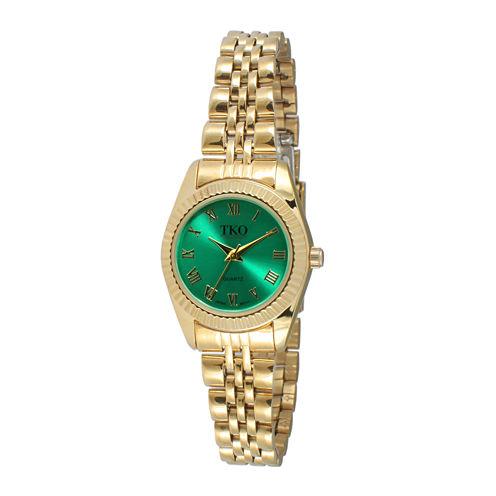 TKO ORLOGI Womens Green Dial Petite Bracelet Watch