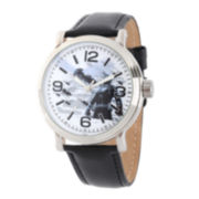 Marvel® Ant-Man Mens Black Leather Strap Vintage-Style Watch