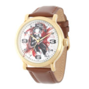 Marvel® Ant-Man Mens Brown Leather Strap Vintage-Style Watch