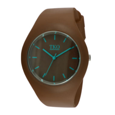 jcpenney.com | TKO ORLOGI Candy II Brown Silicone Strap Sport Watch