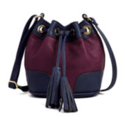 Liz Claiborne® Drawstring Mini Bucket Bag