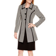R&K Originals® Houndstooth Long Jacket and Skirt Set