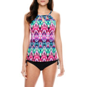 Jamaica Bay® High-Neck Tankini Swim Top or Adjustable Bottoms