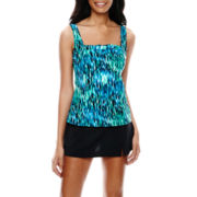 Jamaica Bay® Pleated Tankini Swim Top or Slit Skirt Swim Bottoms