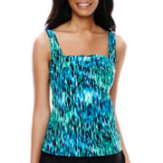 Jamaica Bay® Pleated Tankini Swim Top