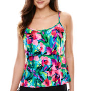 Jamaica Bay® Triple Tier Tankini Swim Top