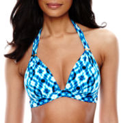 a.n.a® Radial Tie-Dye Print Push-Up Halter Swim Top