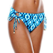 a.n.a® Radial Tie-Dye Print Adjustable Hipster Swim Bottoms