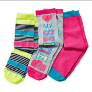 Total Girl® 3-pk. Knee-High Selfie Socks - Girls 7-16