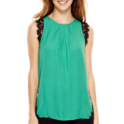 nicole by Nicole Miller® Lace-Trim Tank Top