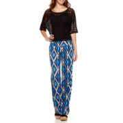 Bisou Bisou® Crochet Top or Foldover Soft Pants