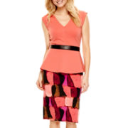 Worthington® V-Neck Peplum Top or Print Pencil Skirt