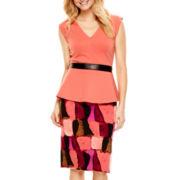 Worthington® V-Neck Peplum Top or Print Pencil Skirt