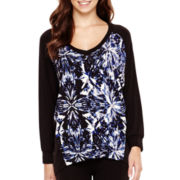 iJeans by Buffalo 3/4-Sleeve Print Top