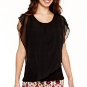 Alyx® Short Flutter-Sleeve Overlay Top