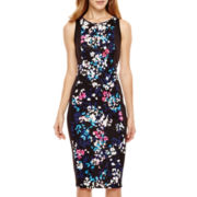 I 'Heart' Ronson® Sleeveless Floral Mid-Length Dress