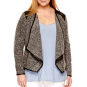 a.n.a® Textured Moto Jacket - Plus