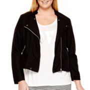 a.n.a® 3/4-Sleeve Cropped Moto Jacket - Plus