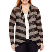 a.n.a® Long-Sleeve Textured Knit Cardigan - Plus