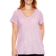 a.n.a® Relaxed Fit V-Neck T-Shirt - Plus