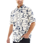 St. John's Bay® Short-Sleeve Tropical Woven Shirt