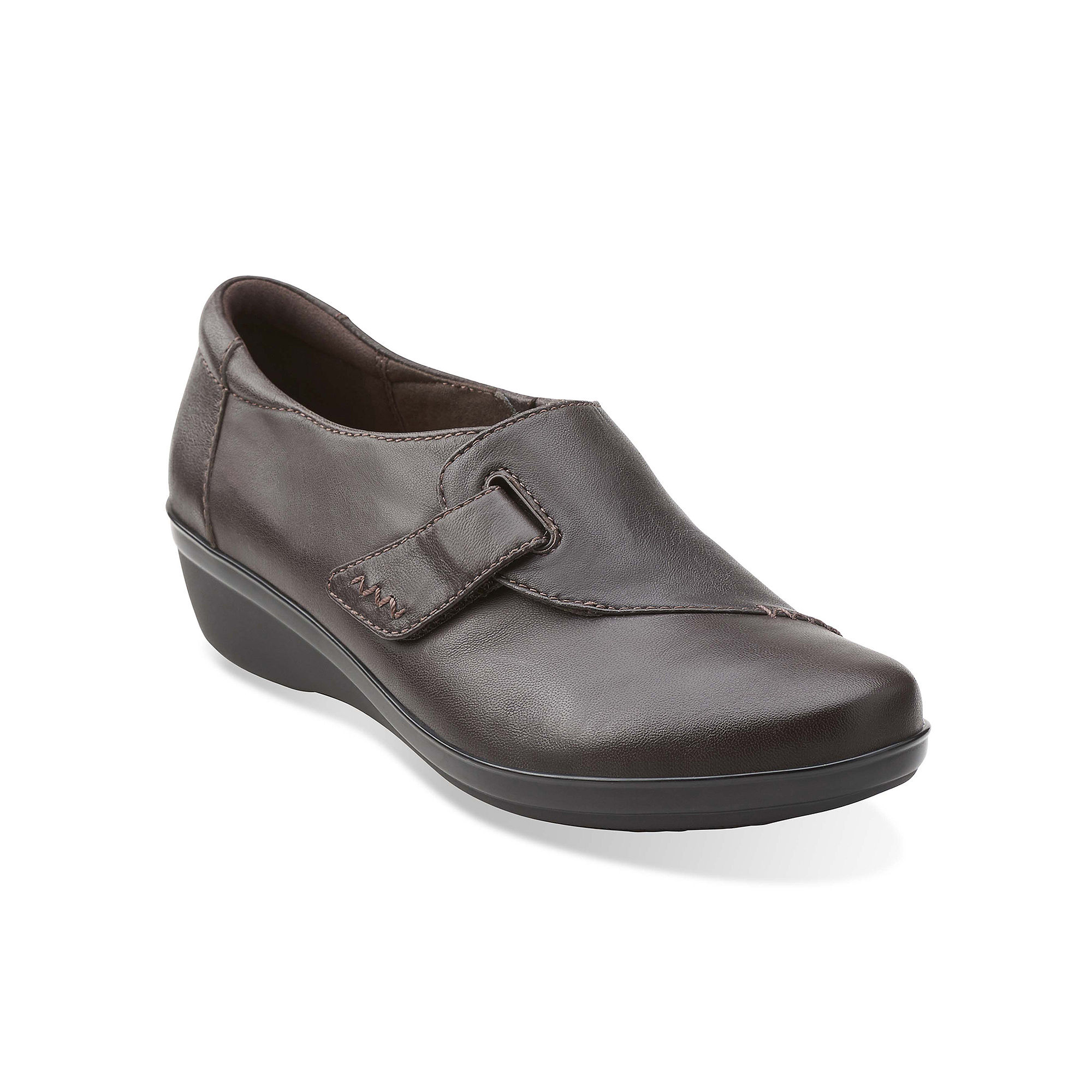 Clarks Everlay Kara Leather Womens Loafers in Wide Width plus size,  plus size fashion plus size appare