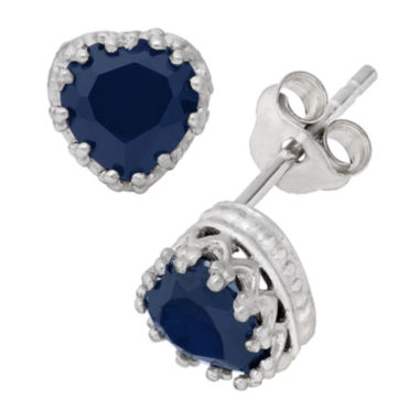 jcpenney.com | Lab-Created Blue Sapphire Sterling Silver Earrings