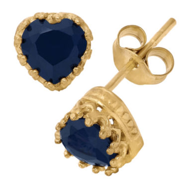 jcpenney.com | Lab Created Blue Sapphire 14K Gold Over Silver Earrings