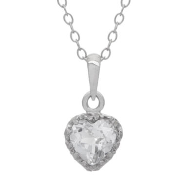 jcpenney.com | Lab-Created White Sapphire Sterling Silver Pendant Necklace