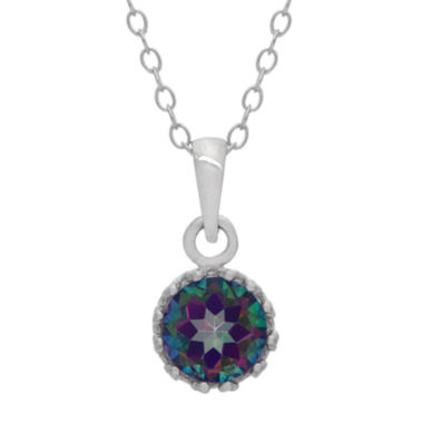 jcpenney.com | Genuine Mystic Green Topaz Sterling Silver Pendant Necklace