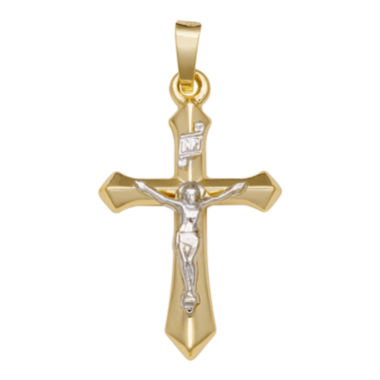 jcpenney.com | 14K Two-Tone Gold Passion Crucifix Charm Pendant