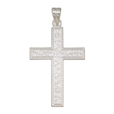 jcpenney.com | Sterling Silver Textured Cross Charm Pendant