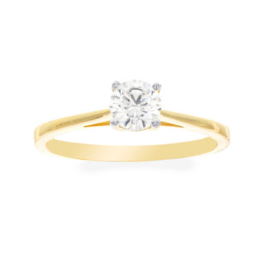 jcpenney.com | Diamonart® 10K Yellow Gold Cubic Zirconia .85 C.T. T.W.. Round Solitaire Ring