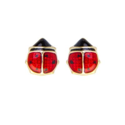 Children S 14k Gold Enamel Ladybug Stud Earrings Jcpenney