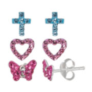 Multi Color Crystal Earring Sets