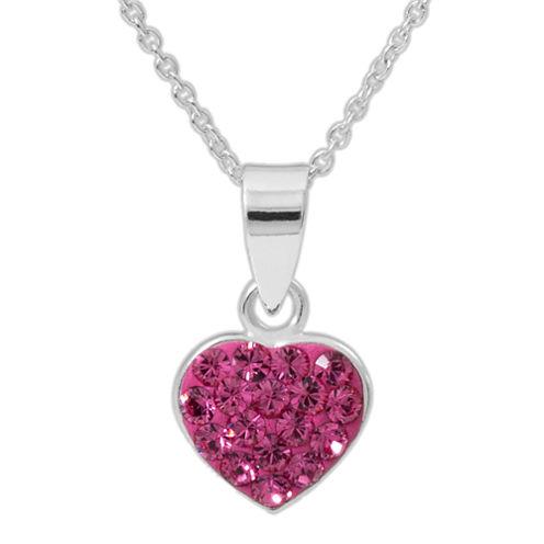 Disney Pink Crystal Round Pendant