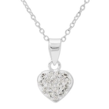 jcpenney.com | Disney White Crystal Round Pendant