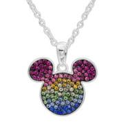 Disney Multi Color Crystal Round Pendant